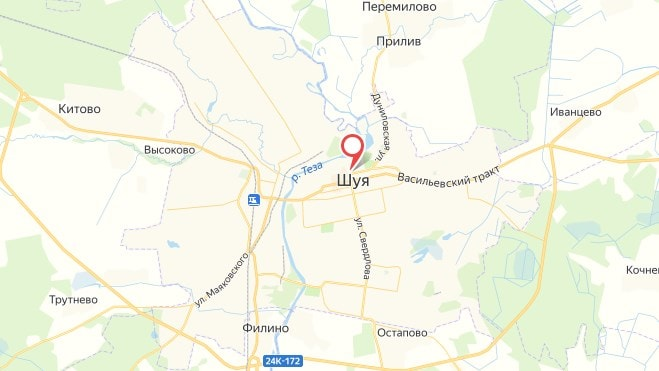 Фото карты города Шуя