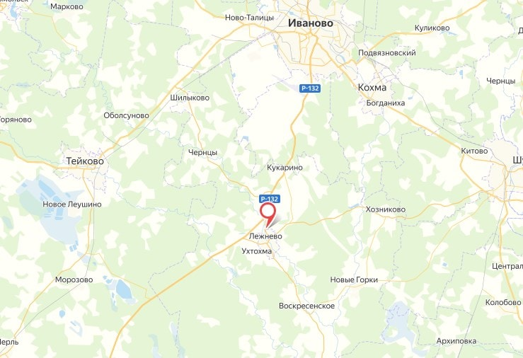Изображение Лежнево на карте